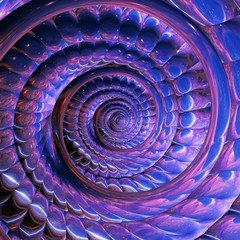 obraz spiralny fraktal