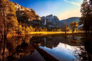 piękny krajobraz parku Yosemite